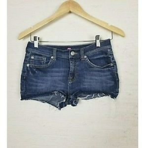 girls 7 for all mankind cut off jean shorts size 1